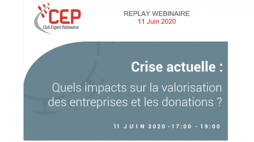 Current crisis, what impact on the valuation of companies and donations?