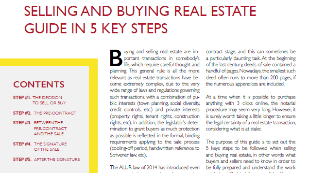 Practical guides: Selling and buying real estate, guide in 5 key steps